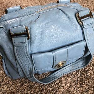 Michael Kors light blue leather purse